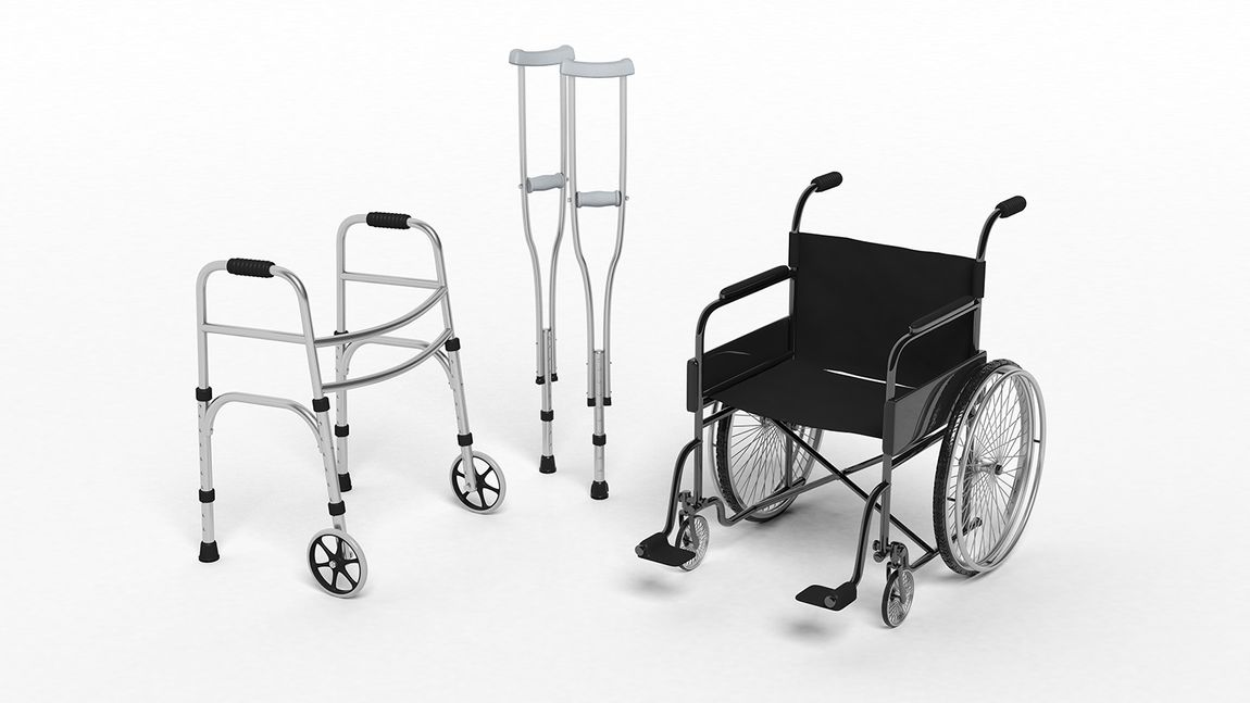 Wheelchair, walker, crutch